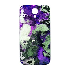 Background Abstract With Green And Purple Hues Samsung Galaxy S4 I9500/i9505  Hardshell Back Case