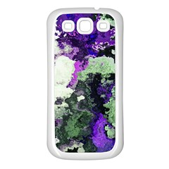 Background Abstract With Green And Purple Hues Samsung Galaxy S3 Back Case (White)
