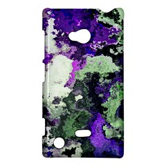 Background Abstract With Green And Purple Hues Nokia Lumia 720