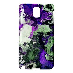 Background Abstract With Green And Purple Hues Samsung Galaxy Note 3 N9005 Hardshell Case