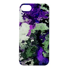 Background Abstract With Green And Purple Hues Apple iPhone 5S/ SE Hardshell Case