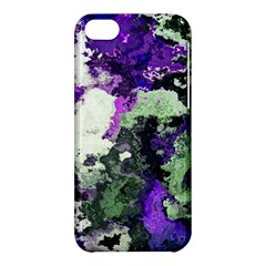 Background Abstract With Green And Purple Hues Apple iPhone 5C Hardshell Case