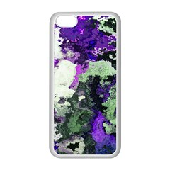 Background Abstract With Green And Purple Hues Apple iPhone 5C Seamless Case (White)