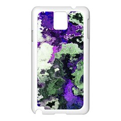 Background Abstract With Green And Purple Hues Samsung Galaxy Note 3 N9005 Case (White)