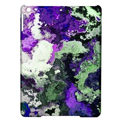 Background Abstract With Green And Purple Hues iPad Air Hardshell Cases
