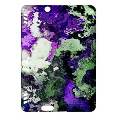 Background Abstract With Green And Purple Hues Kindle Fire Hdx Hardshell Case