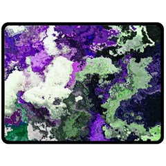 Background Abstract With Green And Purple Hues Double Sided Fleece Blanket (Large)