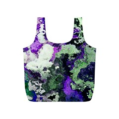 Background Abstract With Green And Purple Hues Full Print Recycle Bags (S)