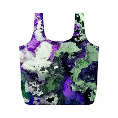 Background Abstract With Green And Purple Hues Full Print Recycle Bags (M)