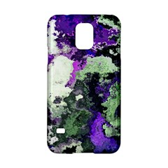 Background Abstract With Green And Purple Hues Samsung Galaxy S5 Hardshell Case