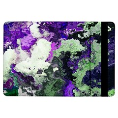 Background Abstract With Green And Purple Hues iPad Air Flip