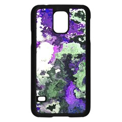 Background Abstract With Green And Purple Hues Samsung Galaxy S5 Case (Black)