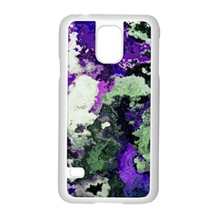 Background Abstract With Green And Purple Hues Samsung Galaxy S5 Case (white)