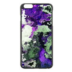 Background Abstract With Green And Purple Hues Apple iPhone 6 Plus/6S Plus Black Enamel Case