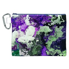 Background Abstract With Green And Purple Hues Canvas Cosmetic Bag (xxl)