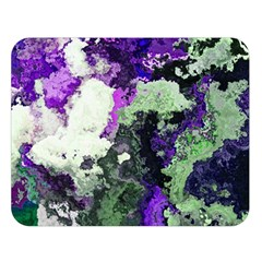 Background Abstract With Green And Purple Hues Double Sided Flano Blanket (large)