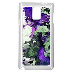 Background Abstract With Green And Purple Hues Samsung Galaxy Note 4 Case (White)