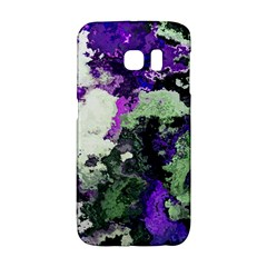 Background Abstract With Green And Purple Hues Galaxy S6 Edge