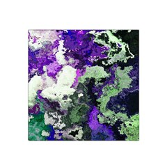 Background Abstract With Green And Purple Hues Satin Bandana Scarf