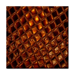 Caramel Honeycomb An Abstract Image Tile Coasters
