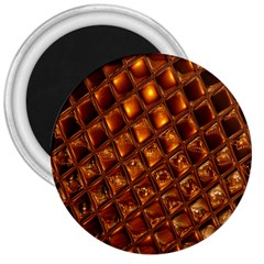 Caramel Honeycomb An Abstract Image 3  Magnets