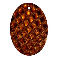 Caramel Honeycomb An Abstract Image Ornament (Oval)