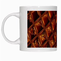 Caramel Honeycomb An Abstract Image White Mugs
