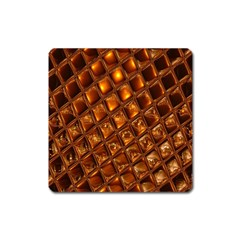 Caramel Honeycomb An Abstract Image Square Magnet