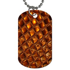 Caramel Honeycomb An Abstract Image Dog Tag (Two Sides)