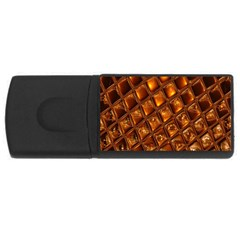 Caramel Honeycomb An Abstract Image USB Flash Drive Rectangular (1 GB)