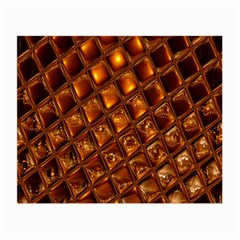Caramel Honeycomb An Abstract Image Small Glasses Cloth