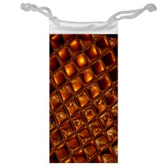 Caramel Honeycomb An Abstract Image Jewelry Bag