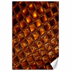 Caramel Honeycomb An Abstract Image Canvas 12  x 18