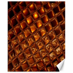 Caramel Honeycomb An Abstract Image Canvas 16  X 20