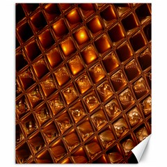Caramel Honeycomb An Abstract Image Canvas 20  X 24