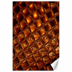 Caramel Honeycomb An Abstract Image Canvas 24  X 36