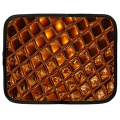 Caramel Honeycomb An Abstract Image Netbook Case (Large)