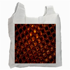Caramel Honeycomb An Abstract Image Recycle Bag (two Side)