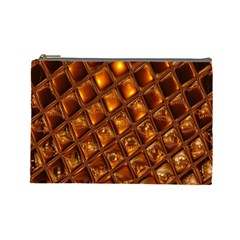Caramel Honeycomb An Abstract Image Cosmetic Bag (large)