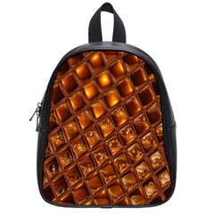 Caramel Honeycomb An Abstract Image School Bags (small)
