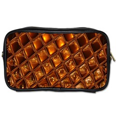 Caramel Honeycomb An Abstract Image Toiletries Bags