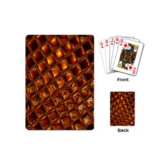 Caramel Honeycomb An Abstract Image Playing Cards (mini)