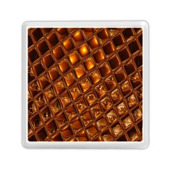 Caramel Honeycomb An Abstract Image Memory Card Reader (square)