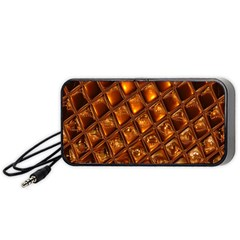 Caramel Honeycomb An Abstract Image Portable Speaker (black)