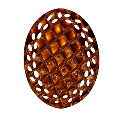 Caramel Honeycomb An Abstract Image Oval Filigree Ornament (two Sides)