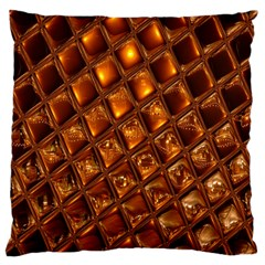 Caramel Honeycomb An Abstract Image Large Cushion Case (One Side)