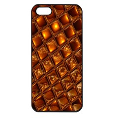 Caramel Honeycomb An Abstract Image Apple iPhone 5 Seamless Case (Black)