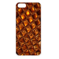 Caramel Honeycomb An Abstract Image Apple Iphone 5 Seamless Case (white)