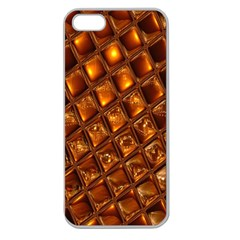 Caramel Honeycomb An Abstract Image Apple Seamless iPhone 5 Case (Clear)