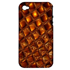 Caramel Honeycomb An Abstract Image Apple iPhone 4/4S Hardshell Case (PC+Silicone)